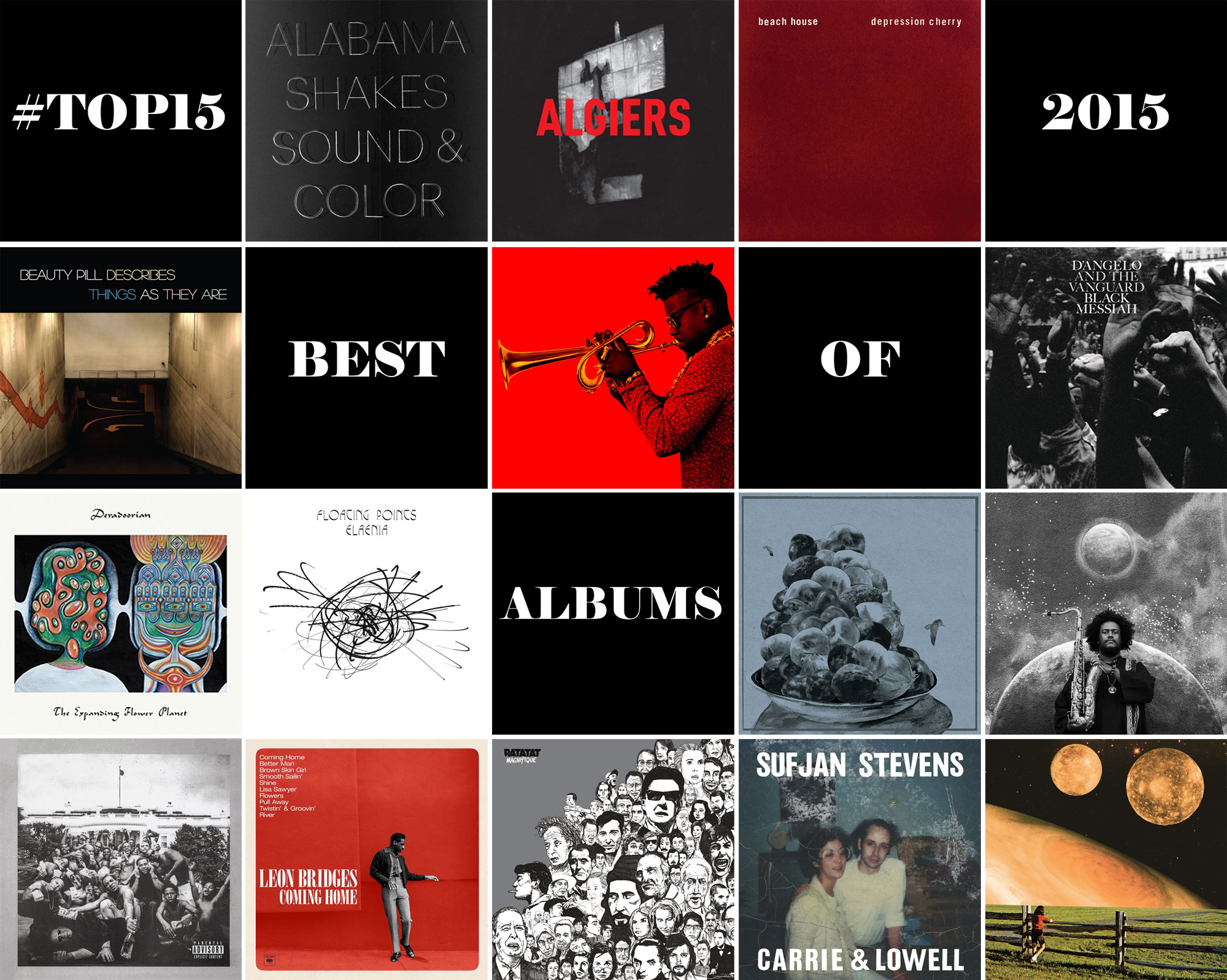 #TOP15 albums of 2015