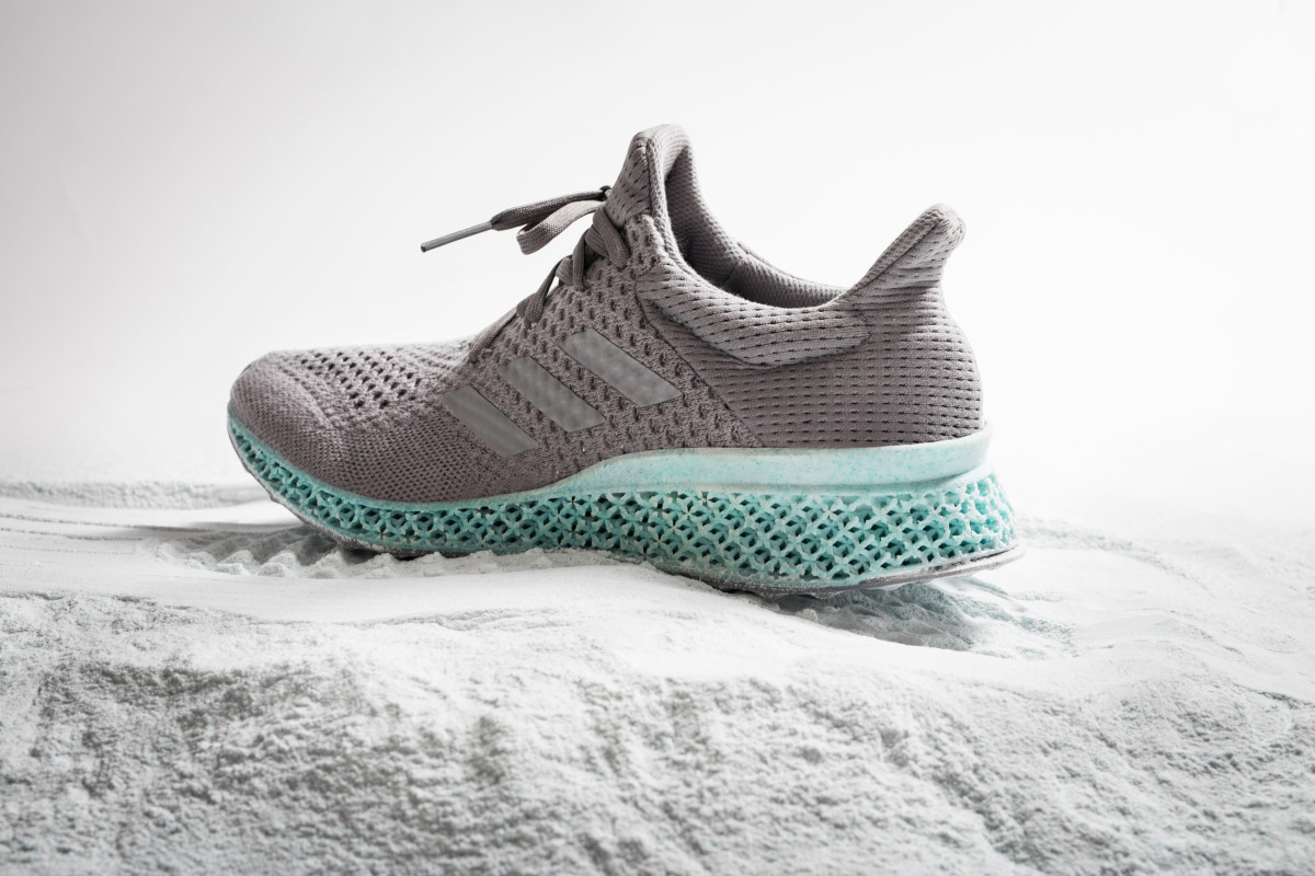 Adidas 3D-printed shoe made from plastic ocean waste