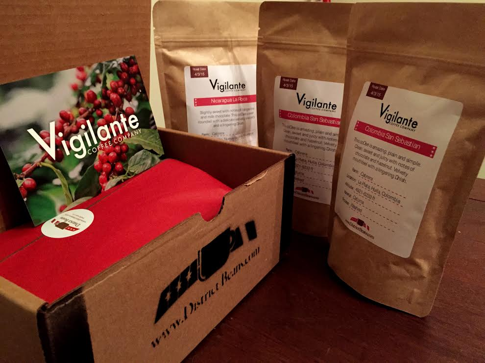 District Beans delivers locally roasted coffee to your door