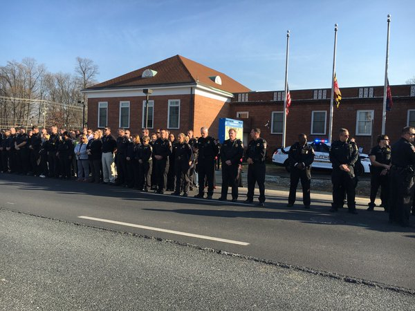 Montgomery Co. police pay tribute to officer who died after being struck during traffic stop (Photos, Videos)