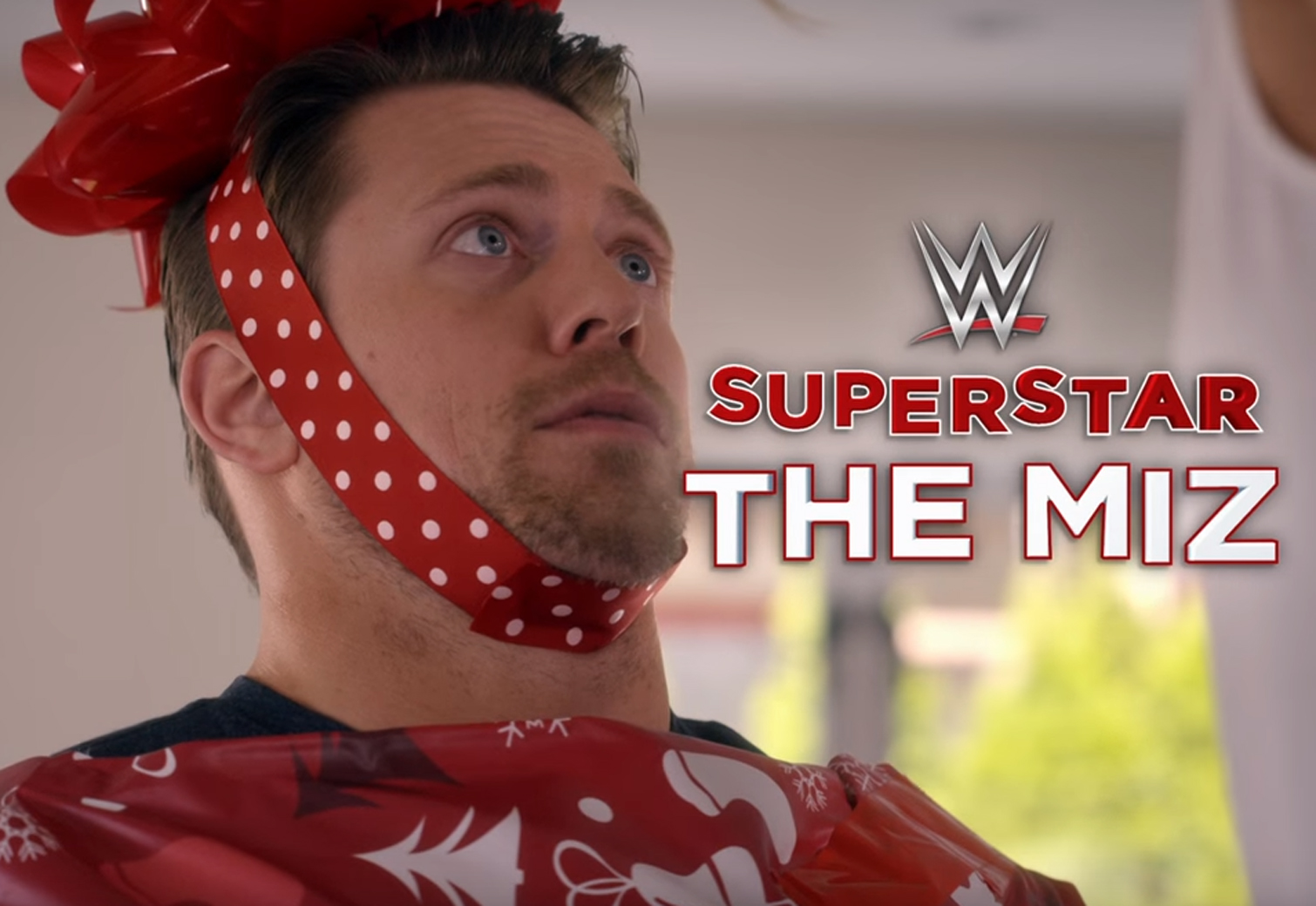 WWE superstars Miz and Paige star in 'Santa's Little Helper'