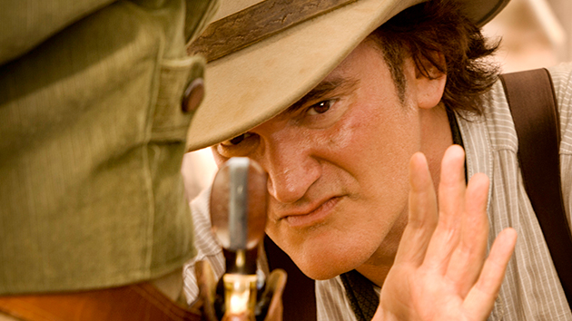 "Quentin Tarantino on the set of ""Django Unchained""; Image credit Andrew Cooper, SMPSP/The Weinstein Company"