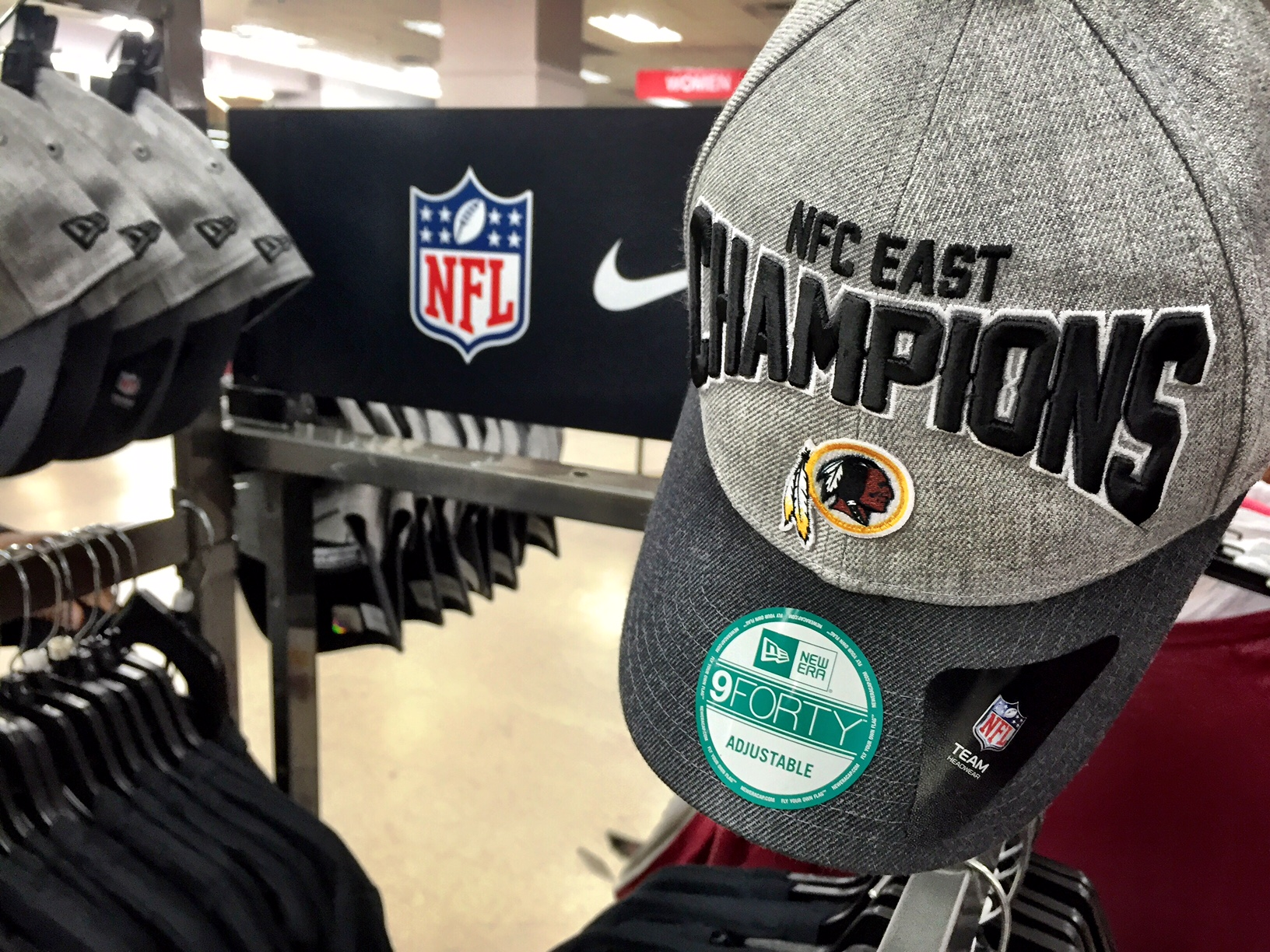 Redskins division champions merchandise in stores Tuesday  aad016a7f