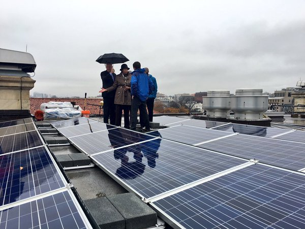 "The new solar power purchase agreement Bowser says, ""doubles down"" on her administration's commitment to renewable and sustainable energy. (Courtesy @MurielBowser)"