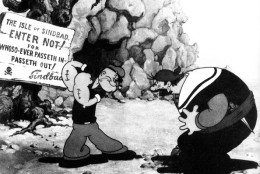 (GERMANY OUT) - mit dem Seeräuber Sindbad im Film:'Von Seemann zu Seemann'(Popeye The Sailor Meets Sindbad TheSailor)- USA 1936 (Photo by ullstein bild/ullstein bild via Getty Images)