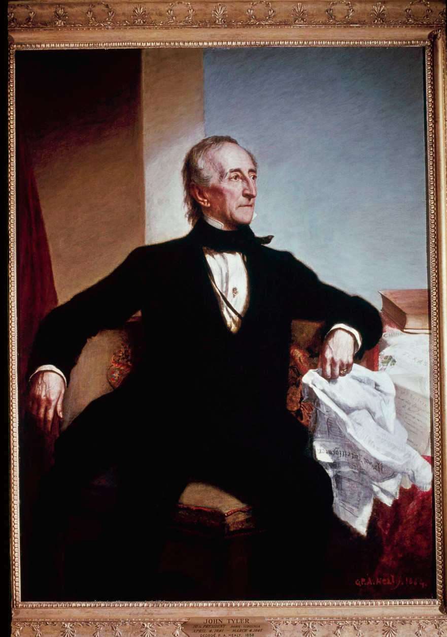 John Tyler, seen in this painting was the 10th President of the United States from April 6, 1841 - April 3, 1945.  (AP Photo)