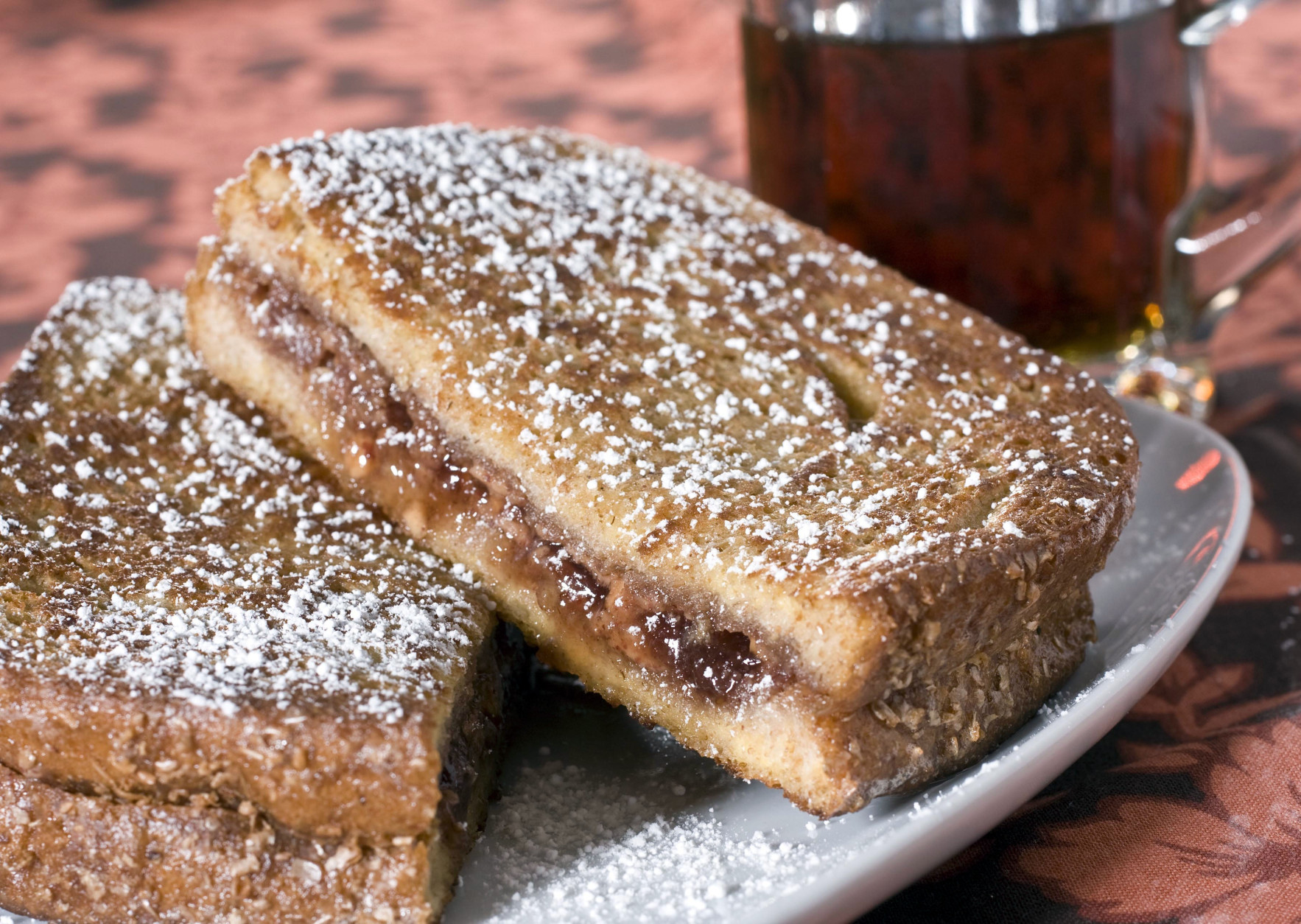 French toast PB&J is seen in this June 21, 2010 photo. If keeping the contents of your kids lunch box new and exciting is a challenge try this  PB&J which uses tried and true ingredients in a unusual way. (AP Photo/Larry Crowe)
