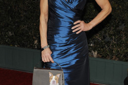 Actress Linda Blair poses at the Academy of Motion Picture Arts and Sciences' 2011 Governors Awards, Saturday, Nov. 12, 2011, in Los Angeles. The Governors Awards is an annual event celebrating awards conferred by the Academy's Board of Governors, with highlights being incorporated into next year's Academy Awards show. (AP Photo/Chris Pizzello)