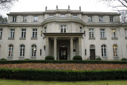 Exterior view of the house of the 'Wannsee Conference' in Berlin, Germany, Friday, Jan. 20, 2012. In this house, a former industrialist's villa used from 1941 to 1945 by the SS as a conference center and guest house, on 20 January 1942, fifteen high-ranking representatives of the SS, the NSDAP (National Socialist German Workers' Party) and various ministries met to discuss their cooperation in the planned deportation and murder of the European Jews. (AP Photo/Michael Sohn, Pool)