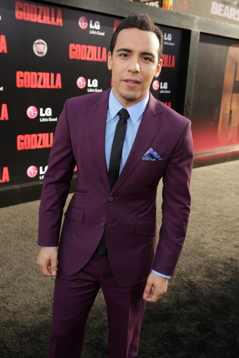 Victor Rasuk seen at Warner Bros. Pictures and Legendary Pictures Present the Los Angeles Premiere of 'Godzilla' at Dolby Theatre on Thursday, May 8, 2014, in Hollywood. (Photo by Eric Charbonneau/Invision for Warner Bros./AP Images)