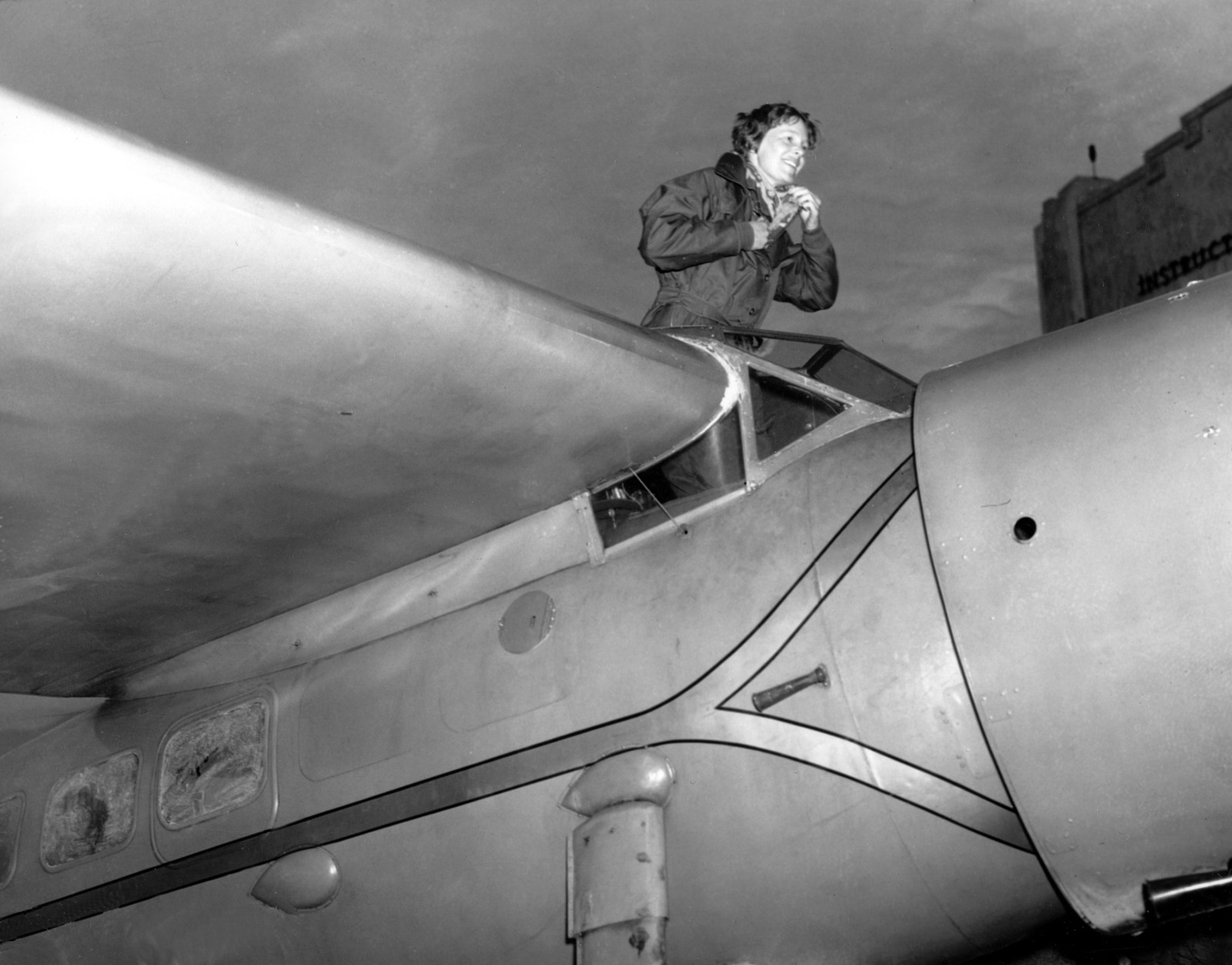 In 1928, Aviator Amelia Earhart became the first woman to fly across the Atlantic Ocean as she completed a flight from Newfoundland to Wales in about 21 hours.  (AP Photo)