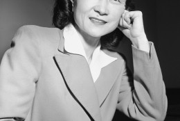 """Iva Ikuko Toguri D'Aquino, also called """"Tokyo Rose,"""" as she appeared in San Francisco, July 1, 1949, after having spent nine months in a jail cell waiting to find out whether the country of her birth will brand her traitor, or set her free. Her trial starts July 5 before Federal Judge Michael Roche. (AP Photo/Clarence Hamm)"""