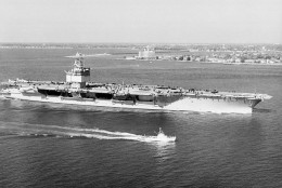 The USS Enterprise, the Navy's newest nuclear-powered aircraft carrier, is shown in a 1961 photo.  (AP Photo)
