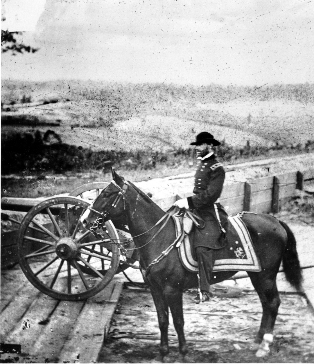 Gen. William T. Sherman inspects battlements at Atlanta in 1864 prior to his March to the Sea during the American Civil War. After his capture of Atlanta, Sherman went on to capture Savannah and divide the Confederate States of America. (AP Photo)