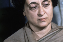 Prime Minister of India Mrs. Indira Gandhi, daughter of the late Prime Minister Jawarhalal Nehru, after she was elected the first woman Prime Minister of India, in New Delhi, India  Jan. 18, 1966. (AP Photo)