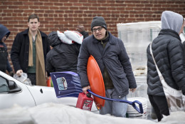 Residents of the Capitol Hill neighborhood in Washington flock to Frager's Hardware, Friday, Jan. 22, 2016, in prepartion for the anticipated blizzard heading to the the Eastern U.S. and threatening the District of Columbia with two feet of snow.  (AP Photo/J. Scott Applewhite)