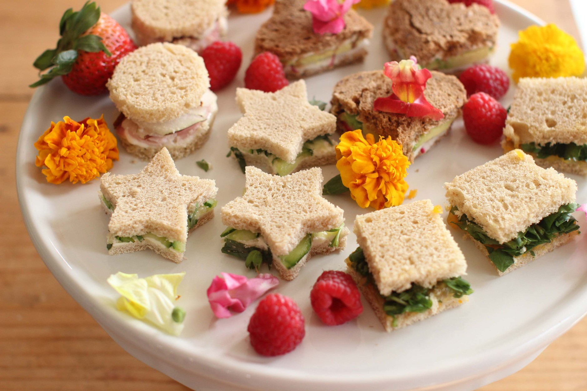 This April 6, 2015 photo shows Mother's Day tea sandwiches in Concord, N.H. (AP Photo/Matthew Mead)