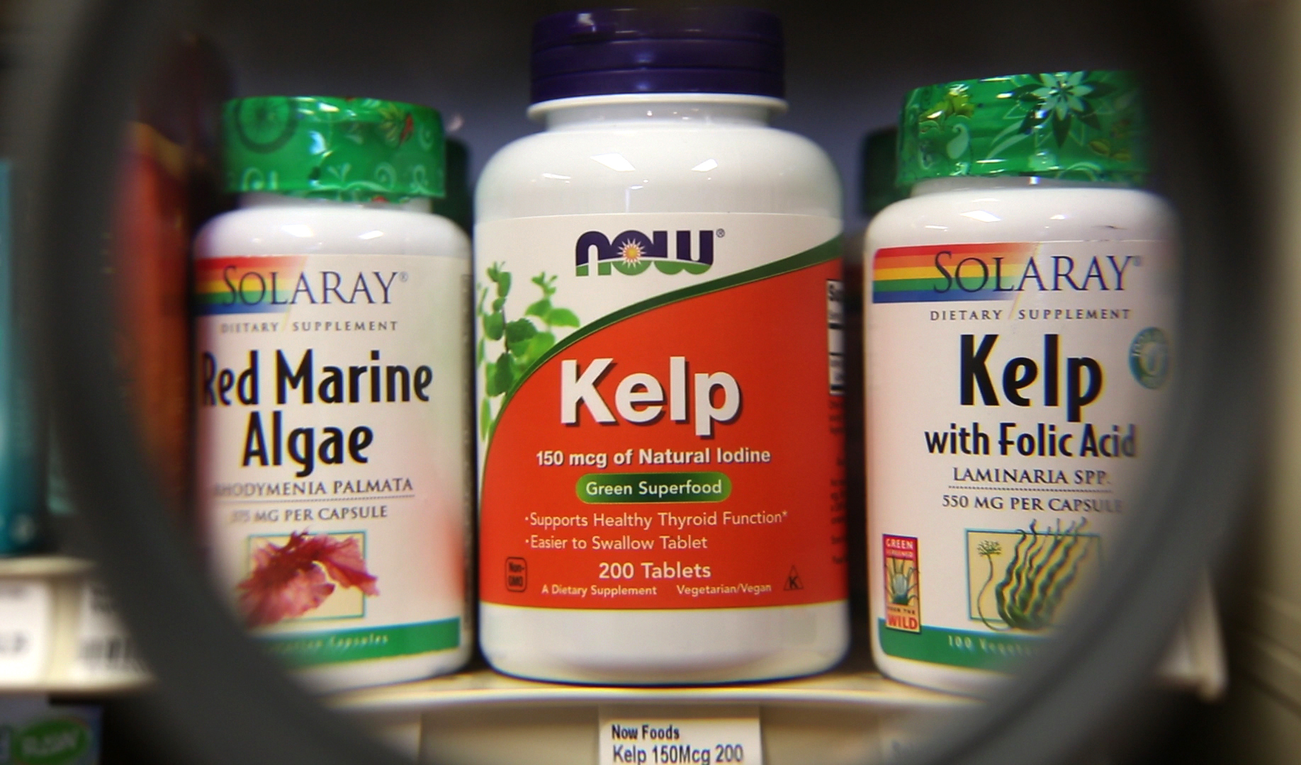 In this Friday, Nov. 6, 2015, kelp tablets are sold at the Royal River Natural Foods store in Freeport, Maine. The harvest of Maine seaweed is growing in recent years as interest grows in the varied uses of marine algae. (AP Photo/Robert F. Bukaty)