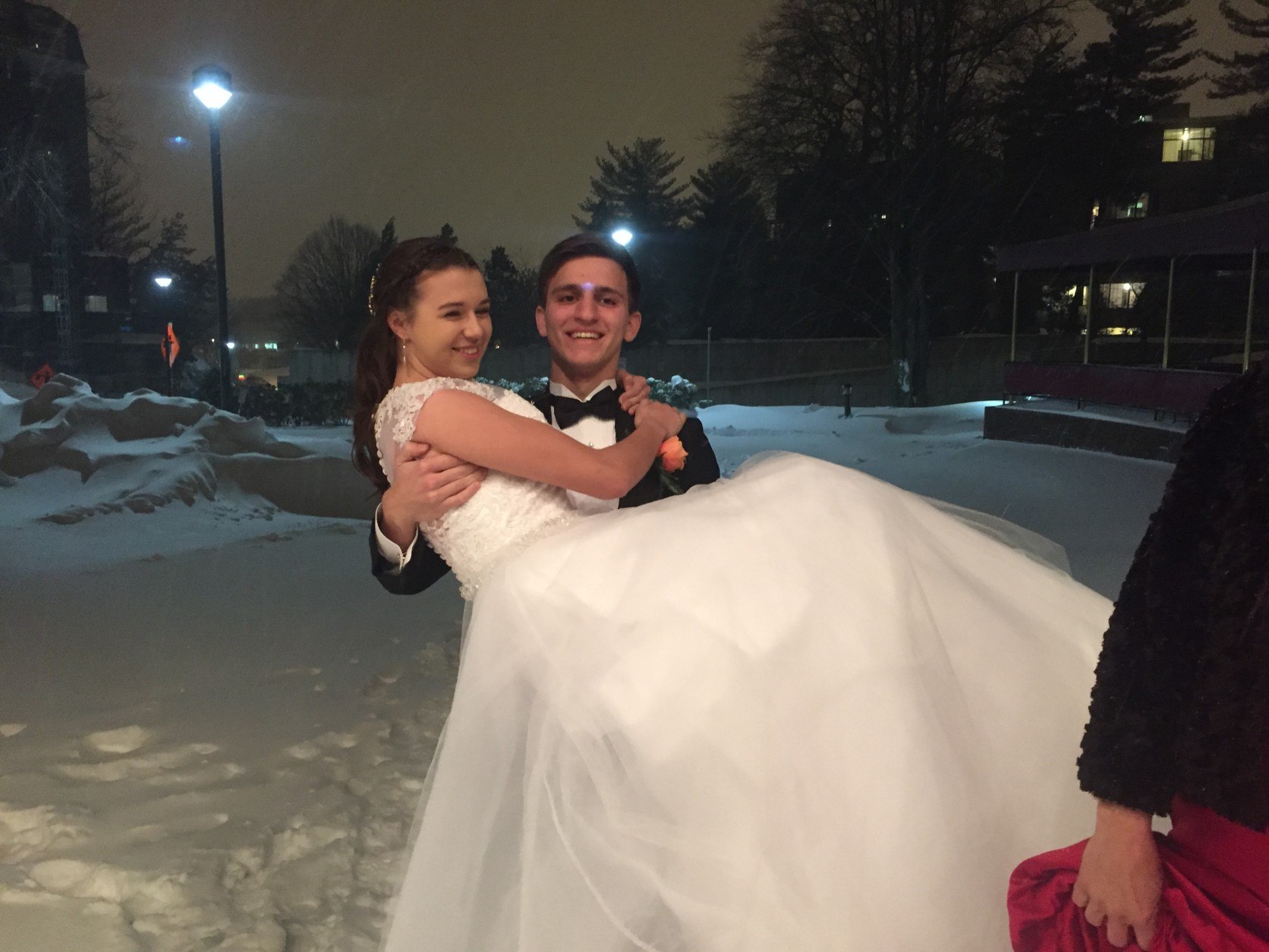 Here, Katya is pictured with her escort, Roman Onyshkevych, 17, of Annapolis, Maryland. (WTOP/Mike Murillo)