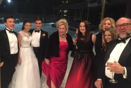 The family from Phoenix, Arizona was planning on celebrating a Ukrainian debutante ball in D.C., that is – before the blizzard hit. (WTOP/Mike Murillo)