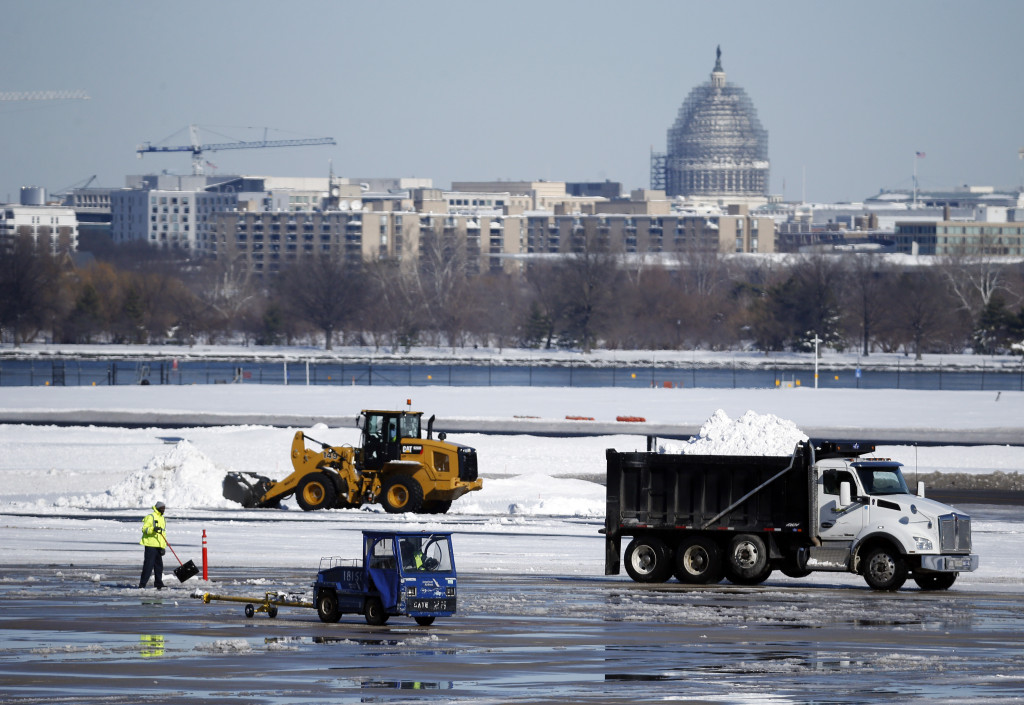 Why not dump all the snow in the Potomac?