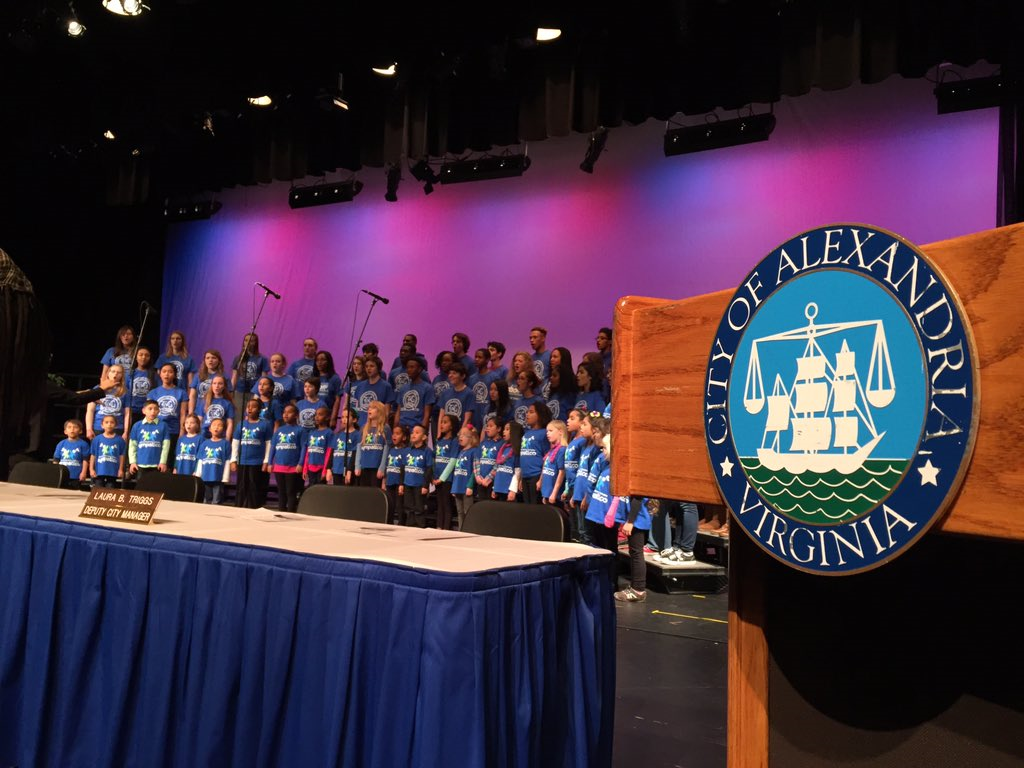 The choir sang at the Alexandria City Council installation ceremony. (WTOP/Michelle Basch)