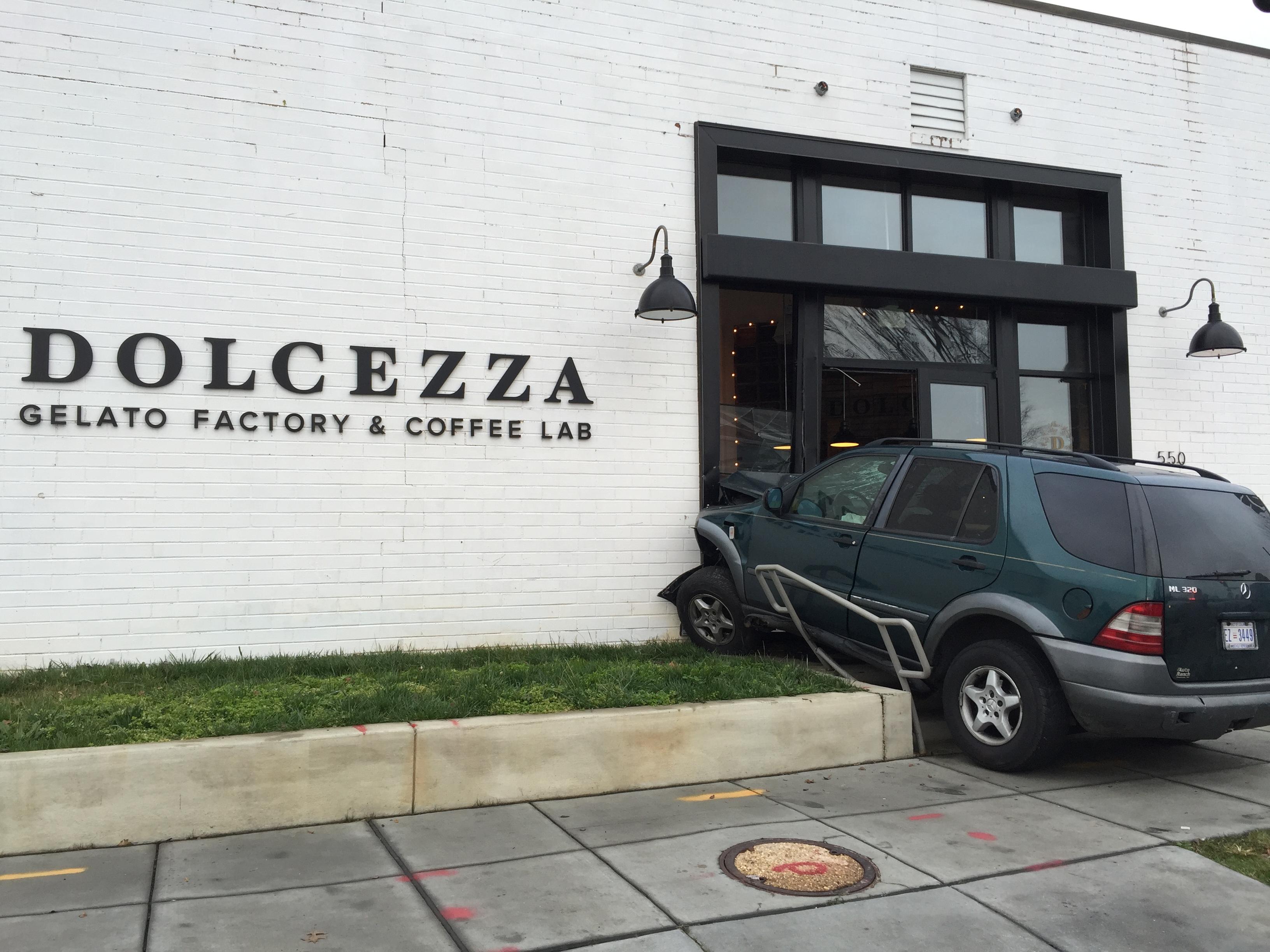 Four hurt after SUV crashes into D.C. gelato shop