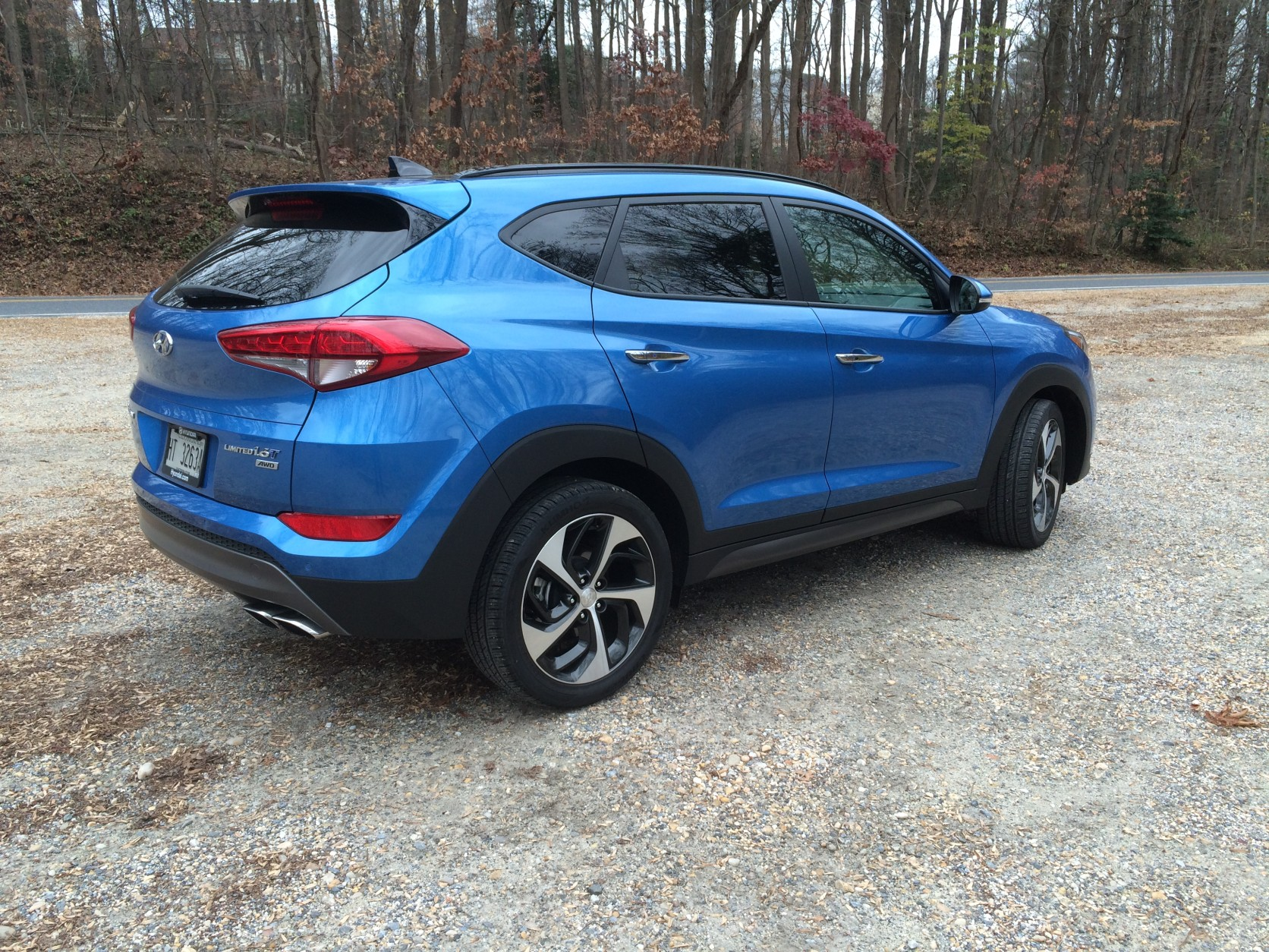 The 2016 Tucson is larger than the previous model but is still a smaller crossover. (WTOP/Mike Parris)