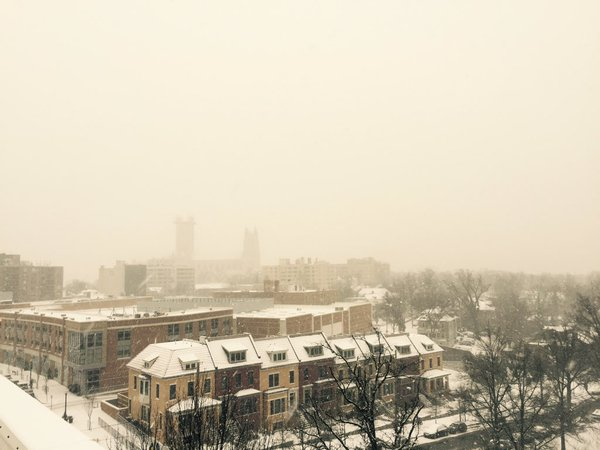 The view from the roof of WTOP FM's headquarters in Washinagton, D.C. on Friday, Jan. 22, 2016 (WTOP/Max Smith)
