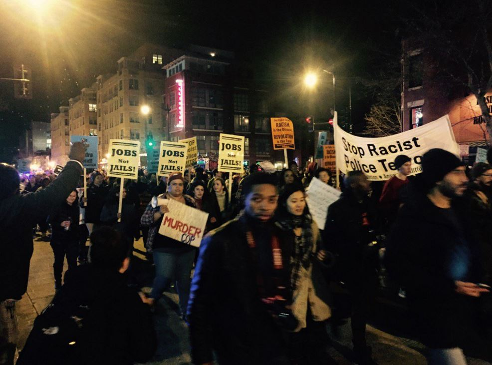 Protesters rally in downtown D.C. on New Year's Eve