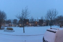 Twitter user Mark Goffee sends WTOP this photo of Falls Church, Va. on Friday, Jan. 22, 2016, the start of a massive storm set to target the D.C.-metro region. (From Mark Goffee via Twitter)