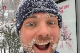 The blizzard warning for the D.C.-Metro region didn't stop this man from getting his run on on Friday, Jan. 22, 2016 (From Twitter user Rock Creek Werewolf)