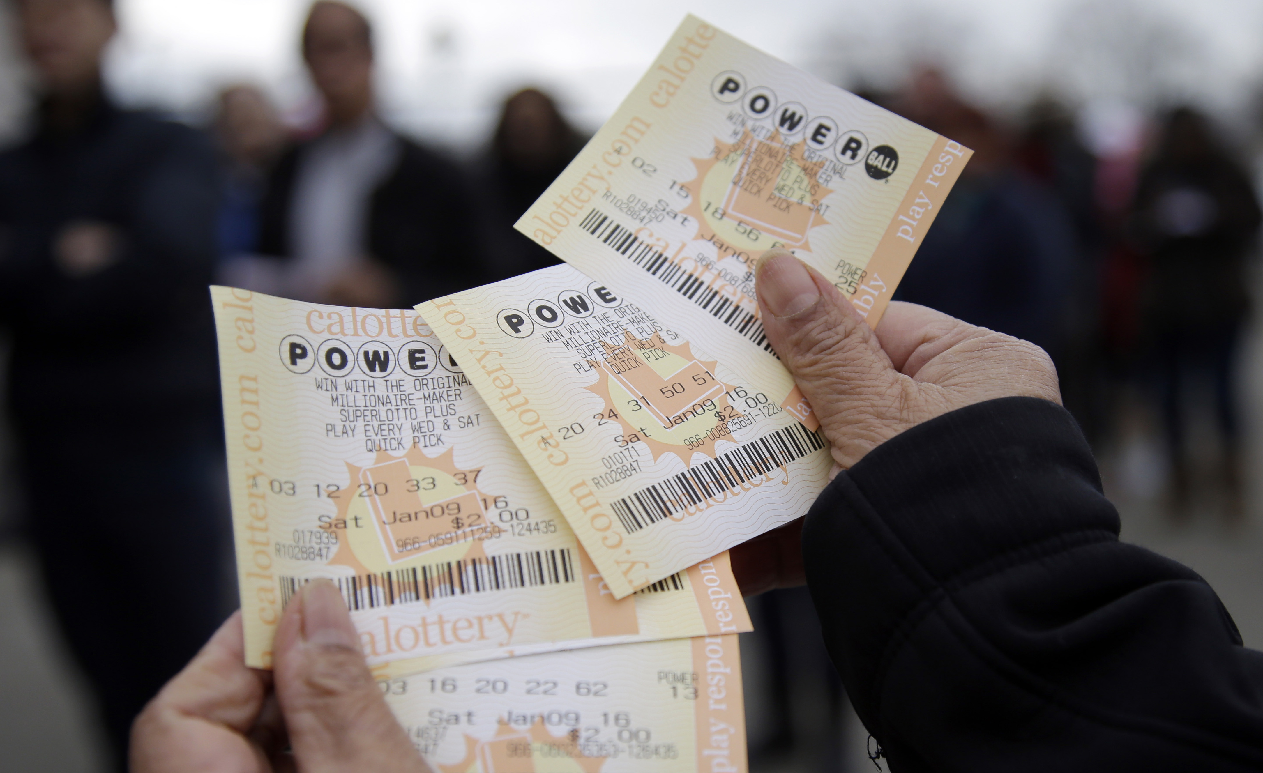Two $1 million tickets in Saturday's Powerball sold in Maryland, Virginia