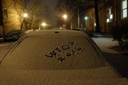 WTOP listeners share snow day photos, such as this one, on Friday, Jan. 22, 2106, the start of a major storm set to target the greater D.C.-metro region over the weekend. (From Twitter user JL Majano)