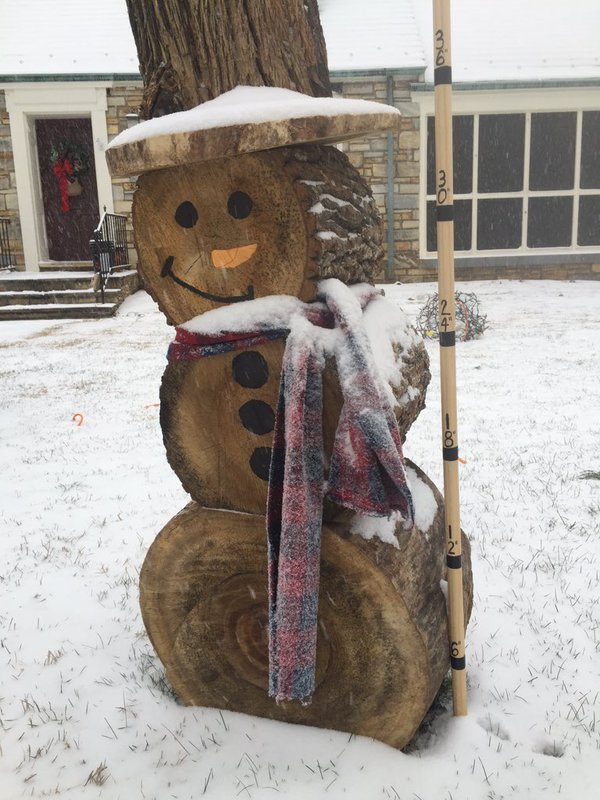Twitter user @zippythesnowman sends WTOP this snow day pic on Friday, Jan. 22, 2016, the start of a major storm system targeting the East Coast. (From Twitter User @zippythesnowman )