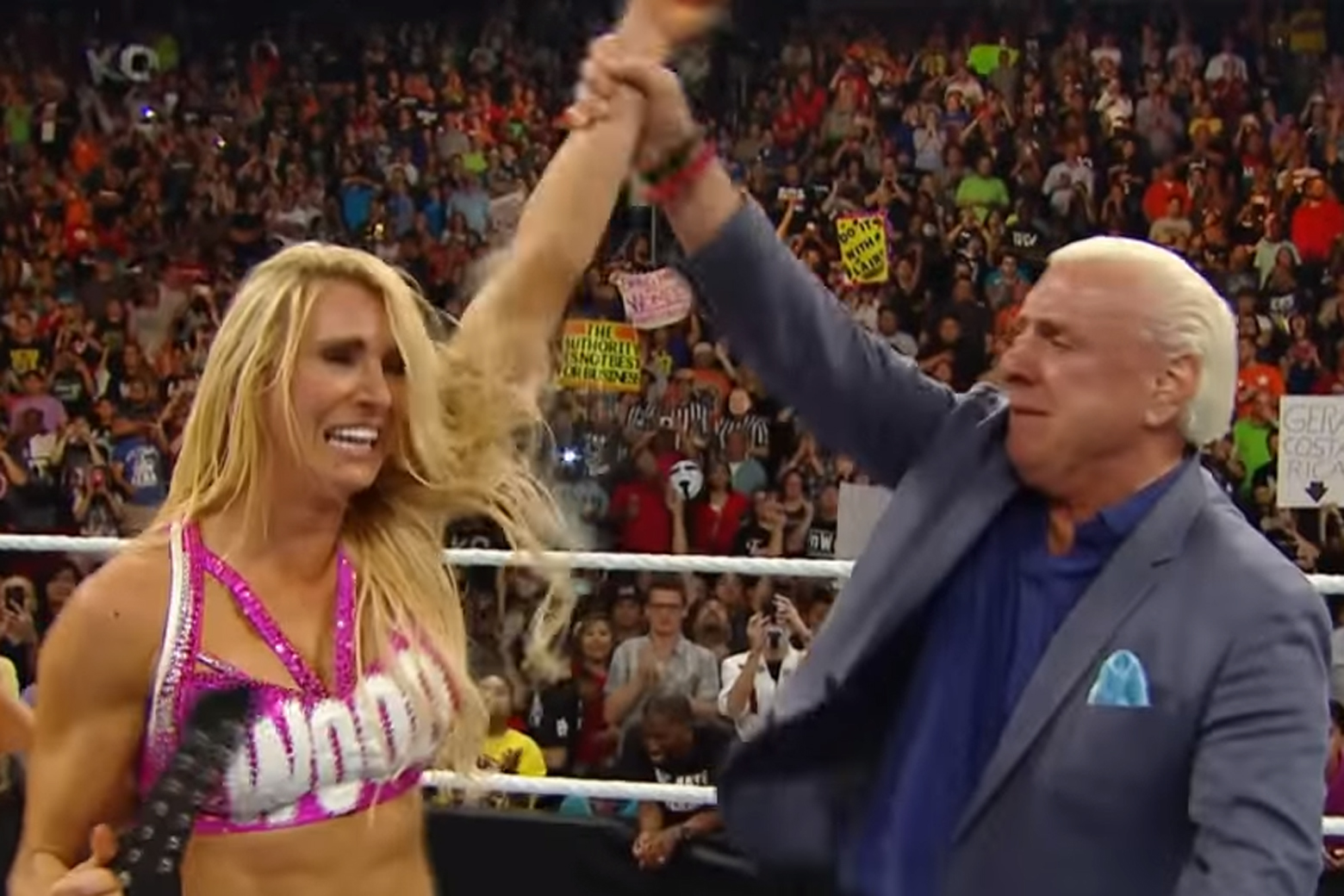 Charlotte Flair follows in father's title-winning footsteps