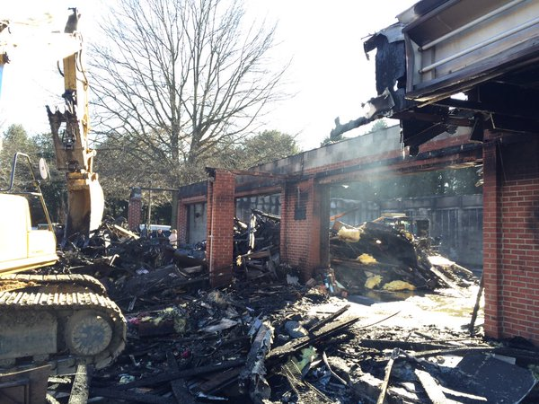 Calvert Co. business a total loss after car crash, fire