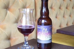 Crooked Stave Silly Cybies is brewed in Denver. The Belgian-style dark ale Aged in oak barrels with raspberries.(WTOP/Brennan Haselton)