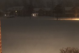 A WTOP listener emailed this photo from Fredericksburg, Va. on Friday, Jan. 22, 2016, the early stages of a major storm expected to pound the East Coast.