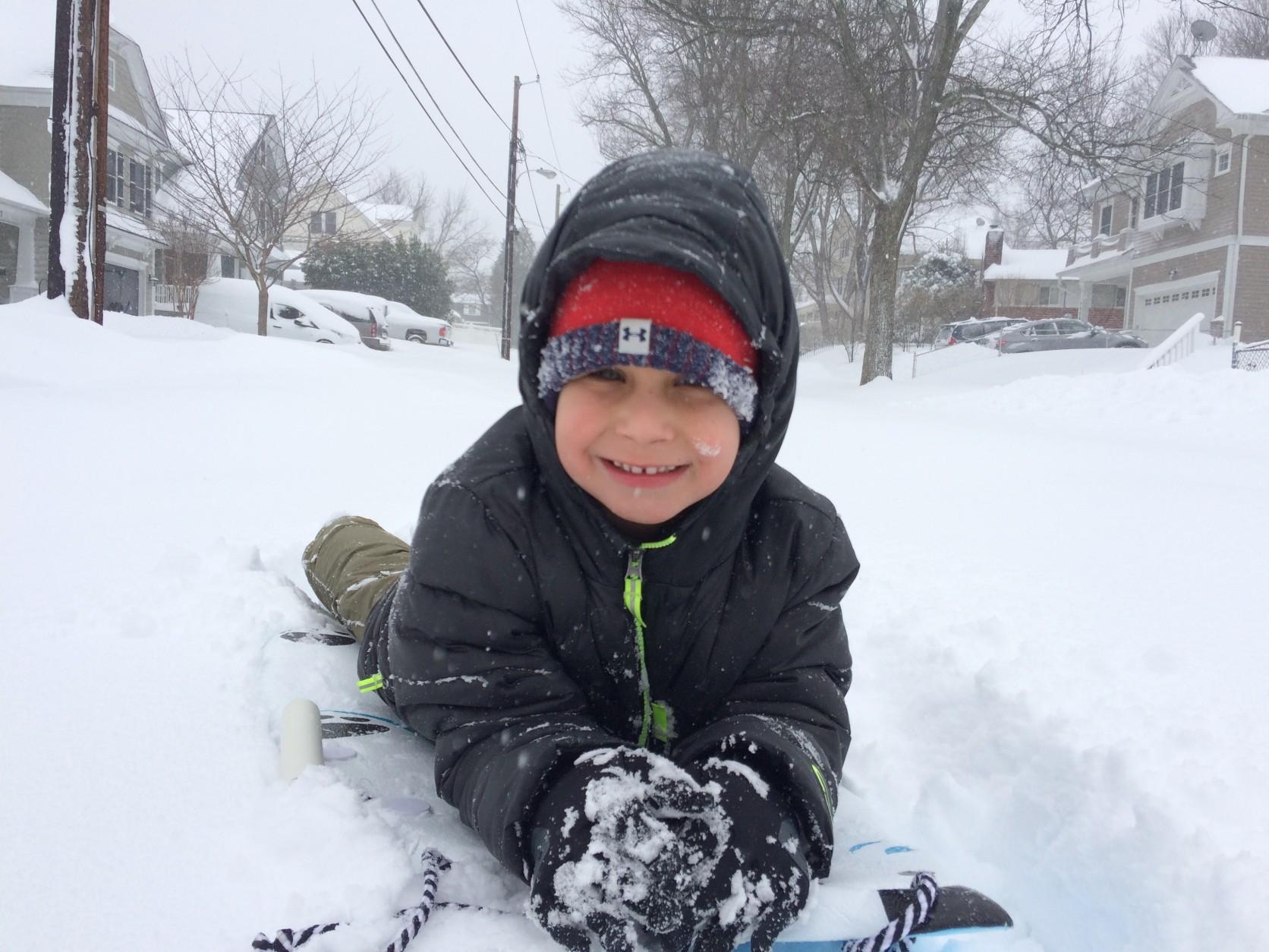 """Saturday a.m. sleigh ride!"" (WTOP: Carolyn Lieberman)"