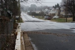 """""""What the road looked like after just 10 minutes of snowing in Orange, Virginia. (Courtesy WTOP listener Israel Gallihugh)"""