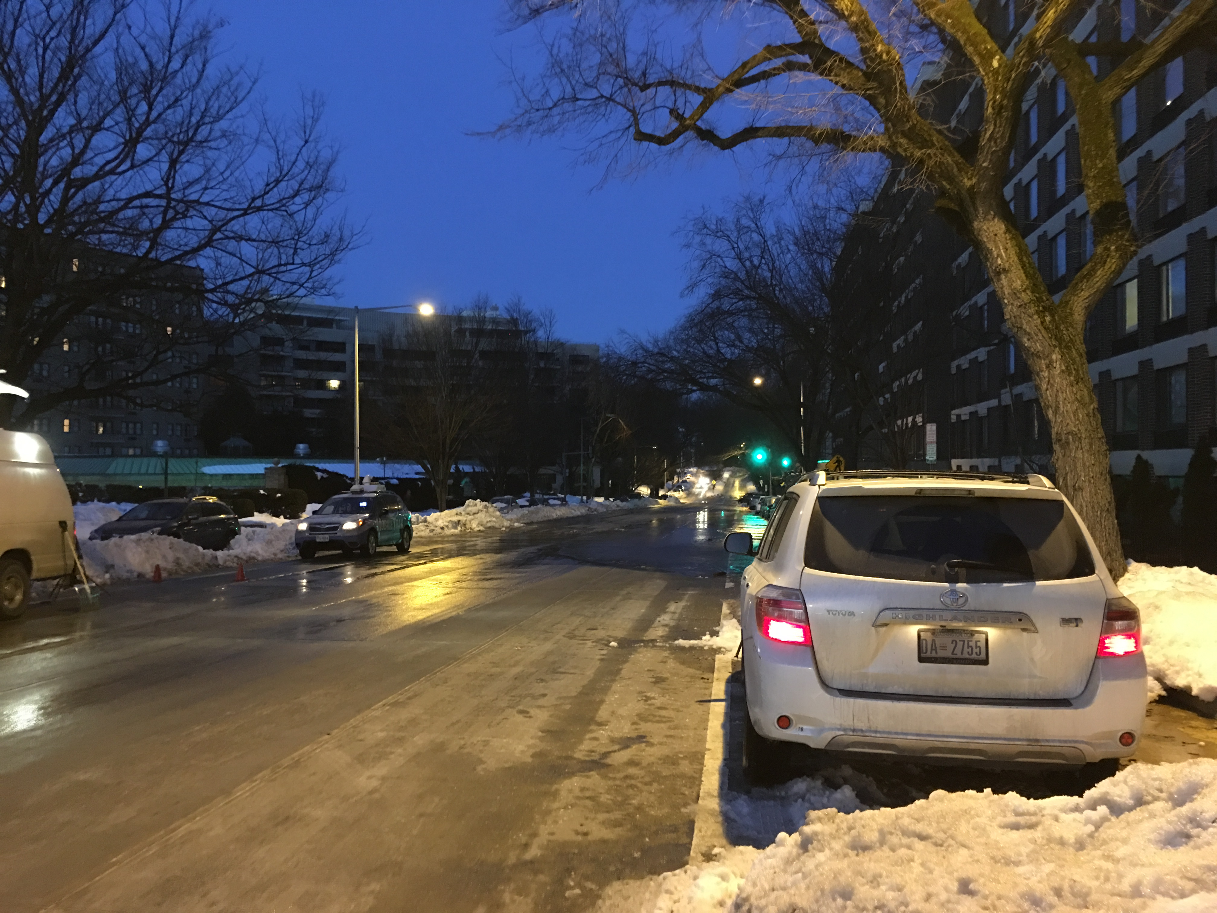 Water main break on Calvert Street