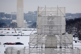 The Architect of the Capitol's offce says staff have been busy restoring the statue at the Ulysses S. Grant Memorial because weather and time have not been kind. (WTOP/Dave Dildine)