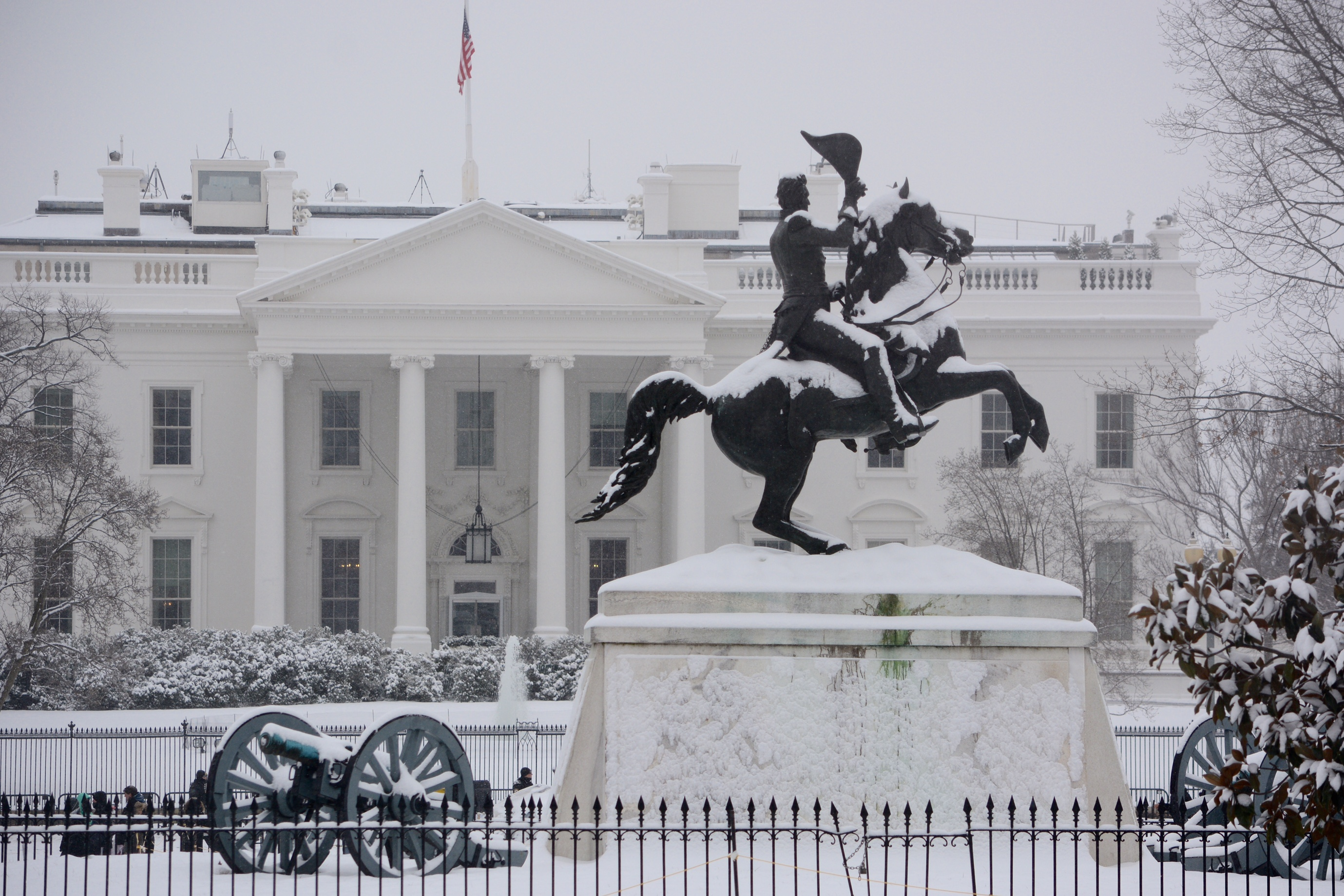 Snapshots: Presidential landmarks in the Presidents Day storm