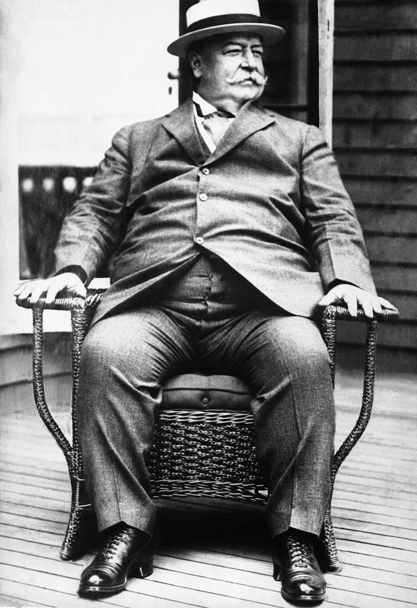 William Howard Taft  shown in 1930 photo after he resigned as Chief Justice of Supreme Court due to illness. (AP Photo)
