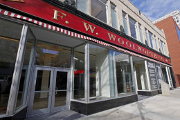 """In this Jan. 7, 2010 photo, The entrance to the former F.W. Woolworth store that will become the International Civil Rights Center and Museum is shown in Greensboro, N.C. Four college freshmen walked into a Greensboro, N.C., dime store on Monday, Jan. 1 1960, bought a few items, then sat down at the """"whites only"""" lunch counter, and sparked a wave of civil rights protest that changed America.  (AP Photo/Chuck Burton)"""