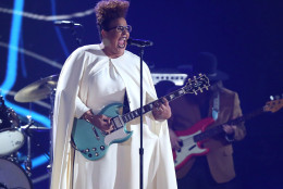 Brittany Howard of Alabama Shakes performs at the 58th annual Grammy Awards on Monday, Feb. 15, 2016, in Los Angeles. (Photo by Matt Sayles/Invision/AP)