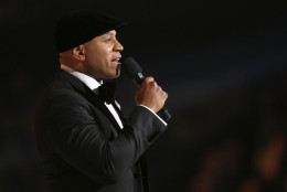 Host LL Cool J speaks at the 58th annual Grammy Awards on Monday, Feb. 15, 2016, in Los Angeles. (Photo by Matt Sayles/Invision/AP)