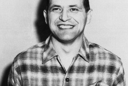 American U2 pilot Francis Gary Powers posed for this photo within three hours after his return to the United States, on Feb. 11, 1962 in Washington following his release from Russian prison. (AP Photo)