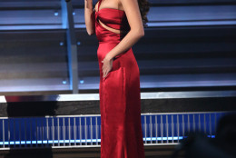 Selena Gomez introduces a performance by Andra Day and Ellie Goulding at the 58th annual Grammy Awards on Monday, Feb. 15, 2016, in Los Angeles. (Photo by Matt Sayles/Invision/AP)